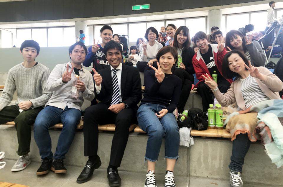 連合熊本地協ファミリースポーツフェスタで病院分会の皆さんと